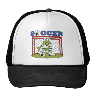 Frog Soccer Goalie Tshirts and Gifts Mesh Hats