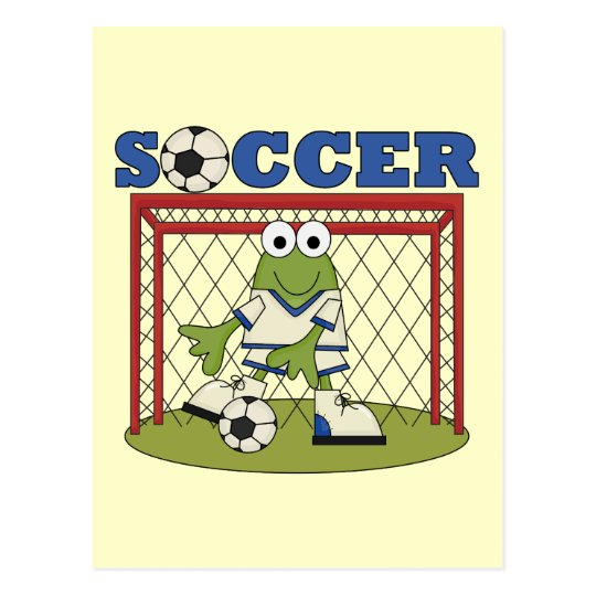 Frog Soccer Goalie Tshirts and Gifts Postcard