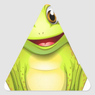 Frog Triangle Sticker