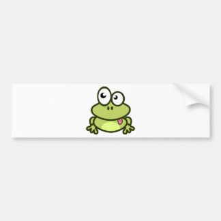 Frog Sticking Out Its Tongue Bumper Sticker