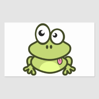 Frog Sticking Out Its Tongue Rectangular Sticker