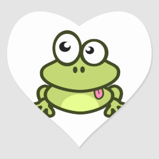 Frog Sticking Out Its Tongue Stickers