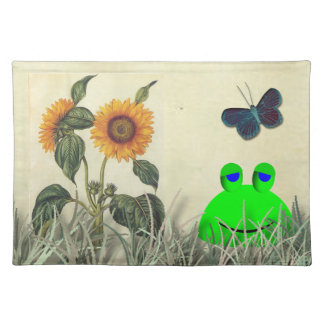 Frog Sunflower and Butterfly Placemats