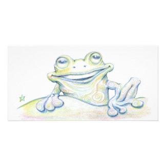 Frog Swirl Photo Greeting Card