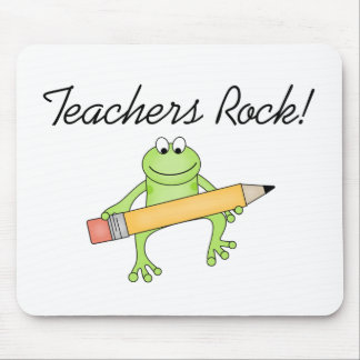 Frog Teachers Rock Mouse Mat
