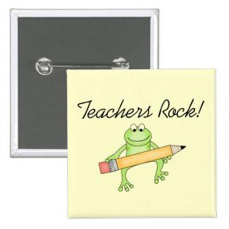 Frog Teachers Rock Tshirts and Gfits 15 Cm Square Badge