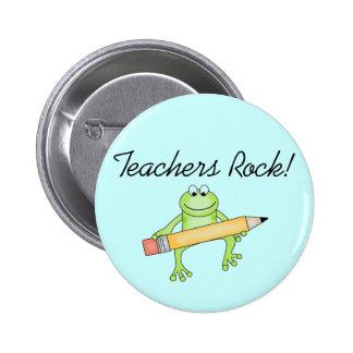 Frog Teachers Rock Tshirts and Gfits 6 Cm Round Badge