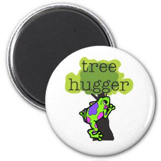 Frog Tree Hugger Refrigerator Magnets