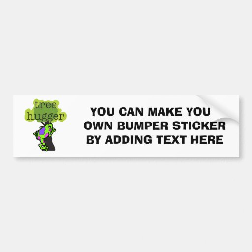 Frog Tree Hugger T-shirts and Gifts Bumper Stickers