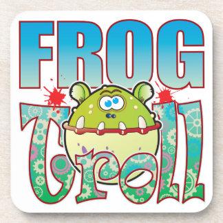 Frog Troll Beverage Coasters