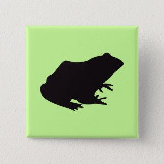 Frog Vintage Wood Engraving 15 Cm Square Badge