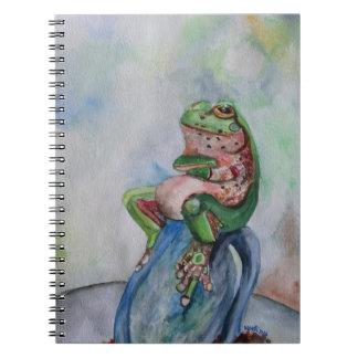 Frog Watercolor Art Notebook