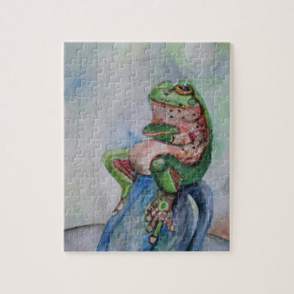 Frog Watercolor Drawing  Puzzle