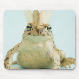 Frog wearing crown mouse pad
