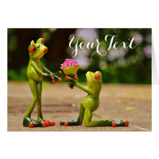 Frog Wedding Proposal Card