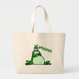 Frog whatever large tote bag