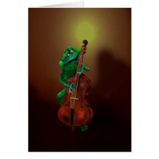 Frog with Double Bass 2 Card