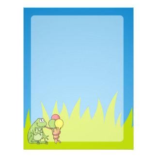 Frog with Icecream 21.5 Cm X 28 Cm Flyer