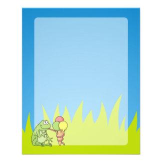 Frog with Icecream 11.5 Cm X 14 Cm Flyer