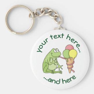 Frog with Icecream Key Ring