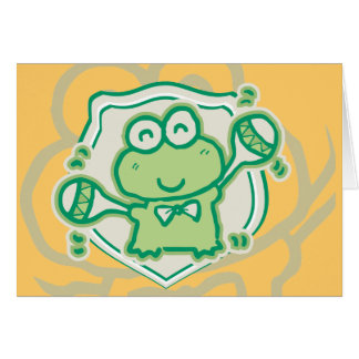 Frog with Maracas Tshirts and Gifts Greeting Card