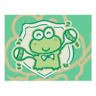Frog with Maracas Tshirts and Gifts Postcard