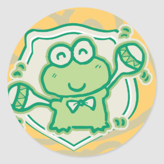 Frog with Maracas Tshirts and Gifts Round Sticker