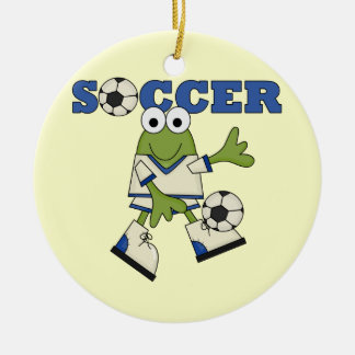 Frog With Soccer Ball T-shirts and Gifts Christmas Ornament