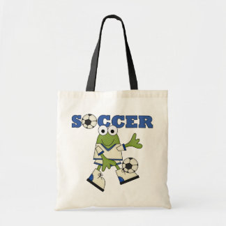Frog With Soccer Ball T-shirts and Gifts Tote Bag