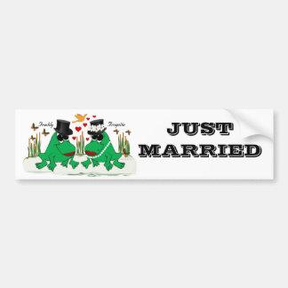 Frogette & Freddy Frog Bumper Sticker