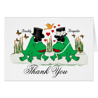 Frogette & Freddy Frog Greeting Card