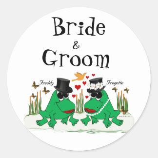 Frogette & Freddy Frog Round Sticker