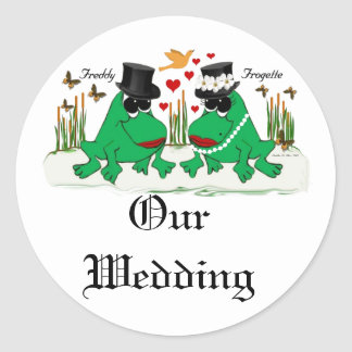 Frogette Frog ~ My Wedding Classic Round Sticker