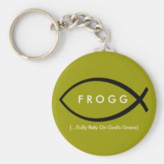 FROGG (Fully Rely On God's Grace) Keychain (Mod)