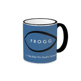 FROGG (Fully Rely On God's Grace) Mug (Blue)