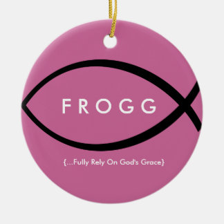 FROGG (Fully Rely On God's Grace) Ornament (Plum)