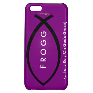 FROGG (Fully Rely On Gods Grace) Purple Case iPhone 5C Case
