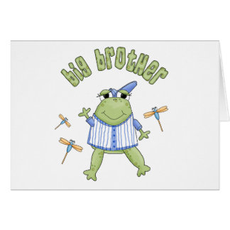 Froggie Big Brother Note Card