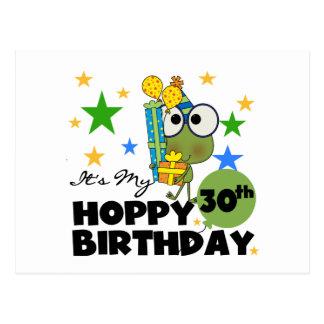 Froggie Hoppy 30th Birthday Postcard