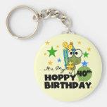 Froggie Hoppy 40th Birthday Basic Round Button Key Ring
