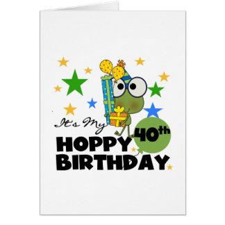 Froggie Hoppy 40th Birthday Greeting Cards
