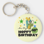Froggie Hoppy 40th Birthday Key Chains