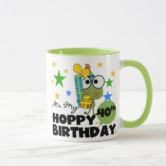 Froggie Hoppy 40th Birthday Mug