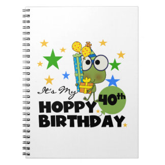 Froggie Hoppy 40th Birthday Notebook