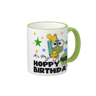 Froggie Hoppy 40th Birthday Ringer Mug