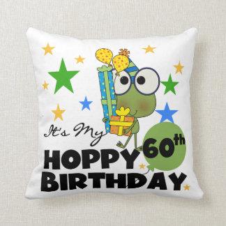 Froggie Hoppy 60th Birthday Cushion