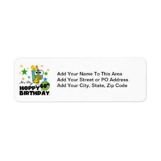 Froggie Hoppy 60th Birthday Return Address Label