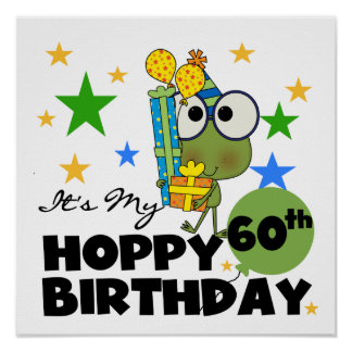 Froggie Hoppy 60th Birthday Poster
