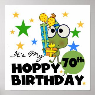 Froggie Hoppy 70th Birthday Poster