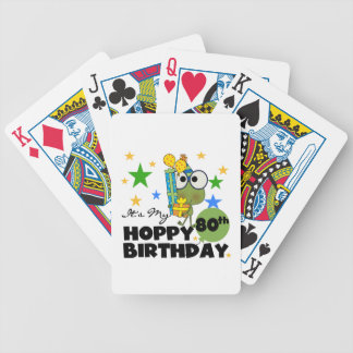 Froggie Hoppy 80th Birthday Bicycle Playing Cards